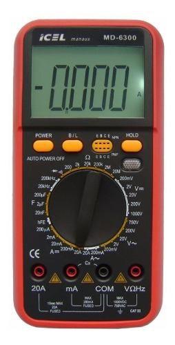 Multímetro Digital Icel Md-6300 Dc: 1.000v Ac: 700v 20a