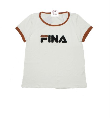 T-Shirt Plus Size Fina Off White