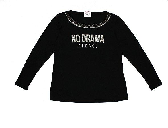 T-Shirt Plus Size No Drama Preto