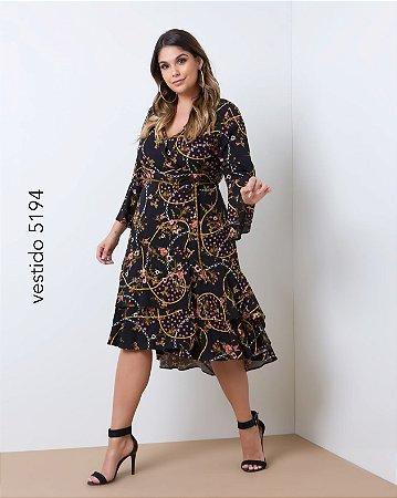 Vestido Floral Preto