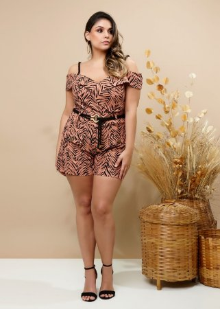 Conjunto Plus Size Animal Print