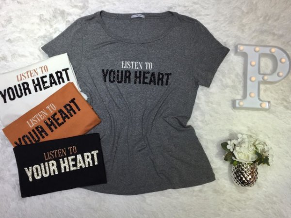 T-Shirt Plus Size Listen To Your Heart