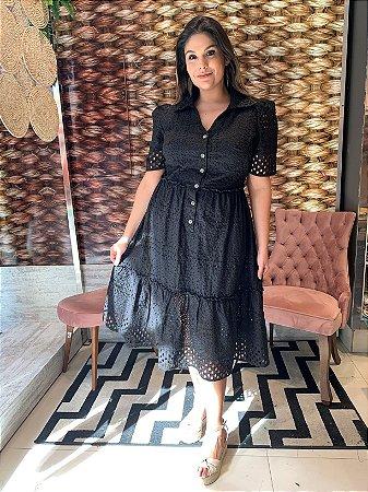 Vestido em Lese Laura Black