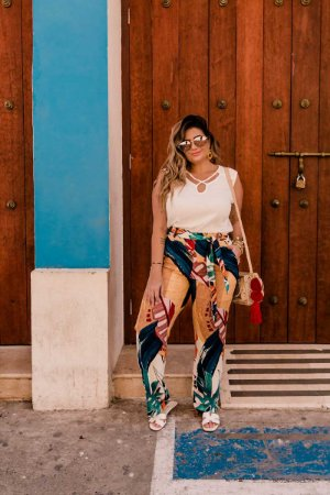 Calça Estampada Plus Size Chloe Marinho