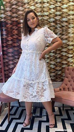 Vestido em Renda Martina Off White