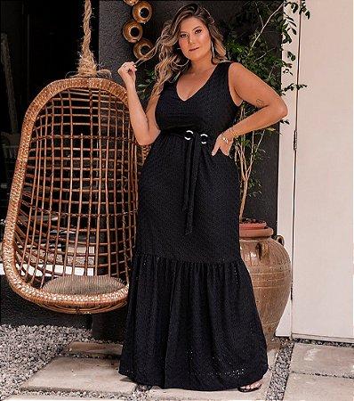 Vestido Longo Lese Black