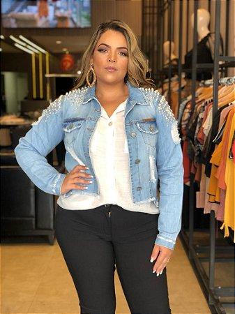 Jaqueta Jeans Plus Size Meghan