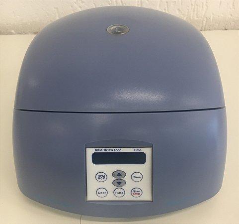 Mini Centrífuga Azul com Rotor de Angulo Fixo e Adaptadores Gyrozen 220V 50/60Hz-GZ-1312 Blue