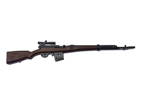 Miniastura SVT-40 Sniper Battle Rifle WWII Gun Model German Russian Soviet Army 1/6