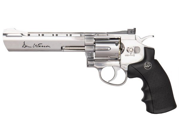 "Revolver de Pressão Co2 ASG 4,5mm Dan Wesson Cano 6"" Full Metal - Cromado"