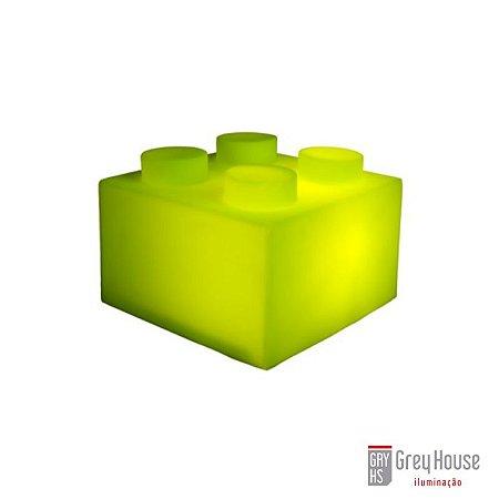 Luminária Bloco Verde | Grey House