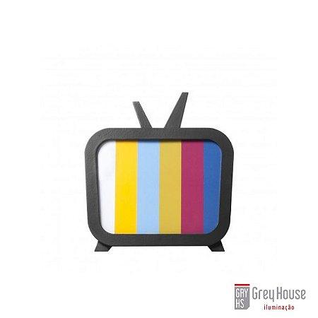 Luminária TV Preta   Grey House