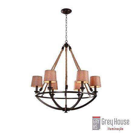 Lustre Anchor p/ 6x E14 | Grey House