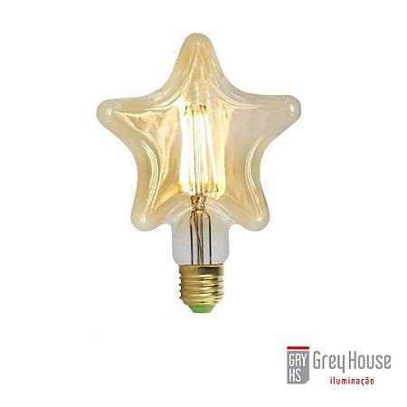Lâmpada Estrela Filamento Vintage Led 4W 2200K | Grey House
