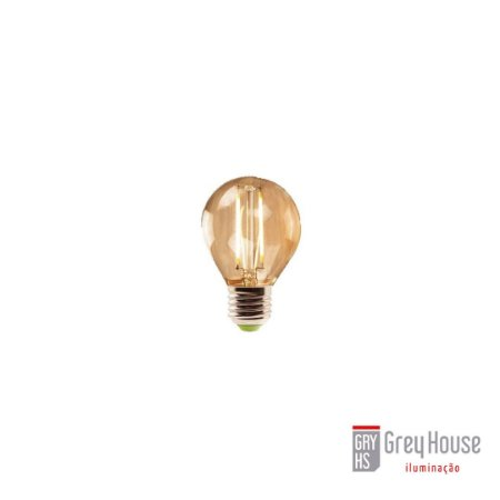 Lâmpada Mini Bulbo Filamento Led 2W 2200K | Grey House