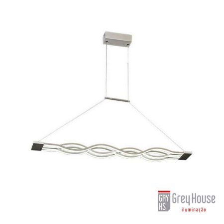Pendente Retangular 61W Led 3000K | Grey House
