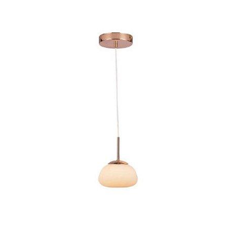 Pendente Pellet 9,5XØ15CM Metal Dourado e Vidro Branco PD1237 | Quality