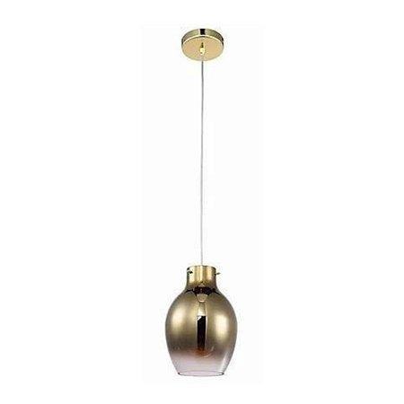Pendente True 26XØ18CM Vidro Degradê Dourado e Metal Dourado PD1149 | Quality