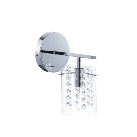 Arandela Scorpius Cristal Transparente e Cúpula de Vidro A23,5XL17 CM 1 x E14 | Arquitetizze