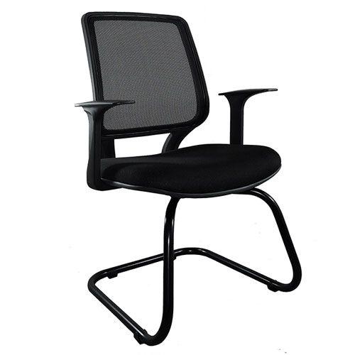 Cadeira Diretor Base Fixa Ski Preta Carporate Tela | Design Chair