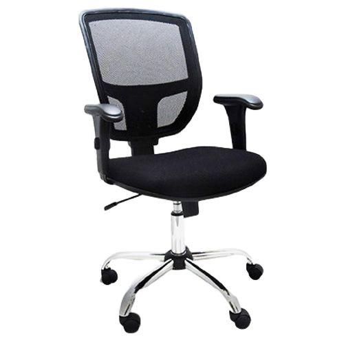 Cadeira Diretor Ergonômica Base Giratória Cromada Tela Mesh Cayman | Design Chair