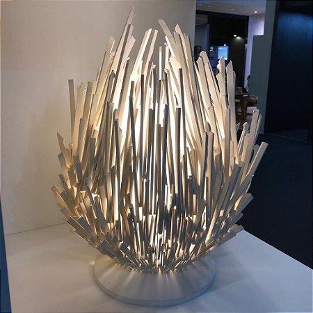 Luminária Escultura em Cerâmica e Vidro Nay 1 x E27 | Geo Luz e Cerâmica