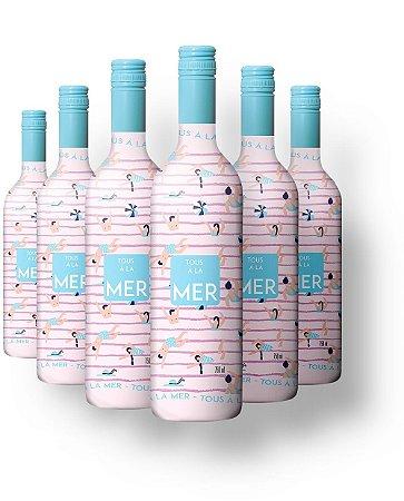 Kit Vinho Rosé Tous à la Mer com 6 Garrafas