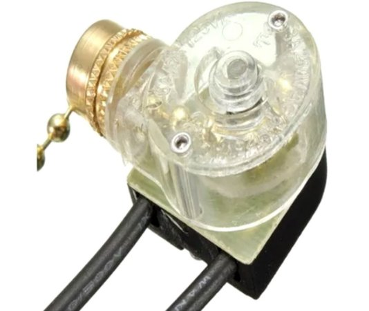 Interruptor De Cordinha Para Lampada Ventilador De Teto 2fio