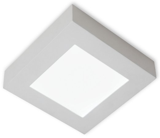 Plafon de Sobrepor Led Quadrada 24W Branco Quente 3000k