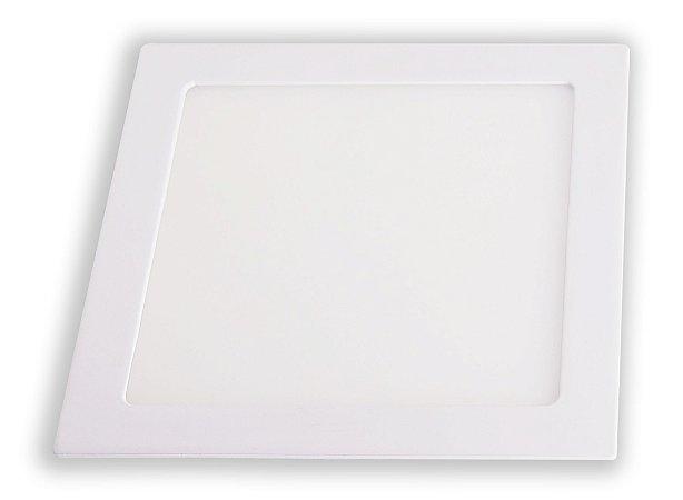 Luminária de Embutir Led Slim Quadrada 12W Branco Frio 6500k