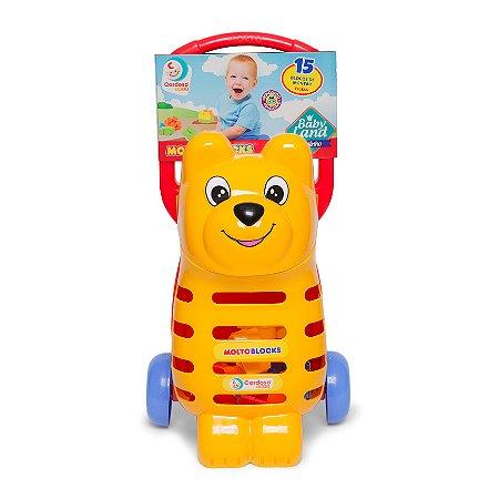 Babyland Ursinho Molto Blocks Cardoso Toys Educativo