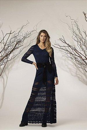Vestido Longo Tricot Transparência
