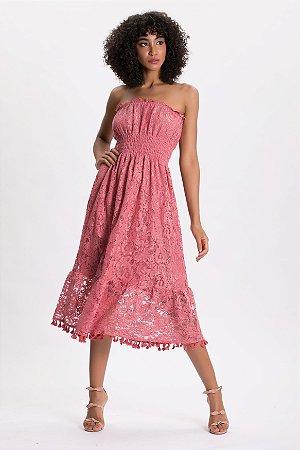 Vestido Midi Vintage