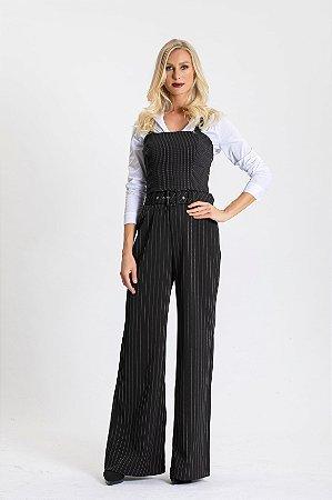 Calça Pantalona Risca de Giz