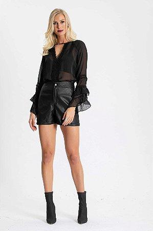 Shorts Couro Luana