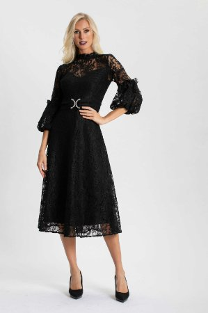Vestido Midi Renda Viviane