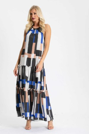 Vestido Longo Abstract