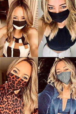 Máscara De Proteção Animal print-Onça