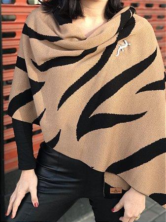 Manta em Tricô 🧶 Zebra