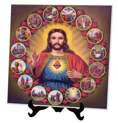 Azulejo Personalizado Sagrado Coração de Jesus