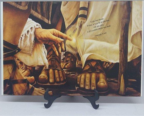 Tocando as vestes de Jesus