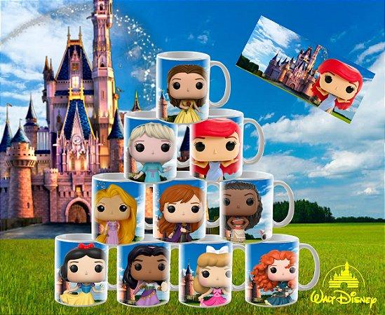 Canecas Colecionáveis Princesas Disney estilo FUNKO