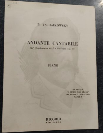 ANDANTE CANTABILE (2° movimento da 5ª Sinfonia opus 64) - partitura para piano - Peter Tschaikowsky