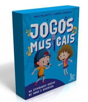 JOGOS MUSICAIS - 50 atividades cheias de sons e diversão - livro-caixinha - Vânia Malagutti e Andréia Chinaglia