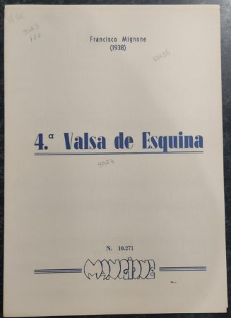 VALSA DE ESQUINA N° 4 - partitura para piano – Francisco Mignone