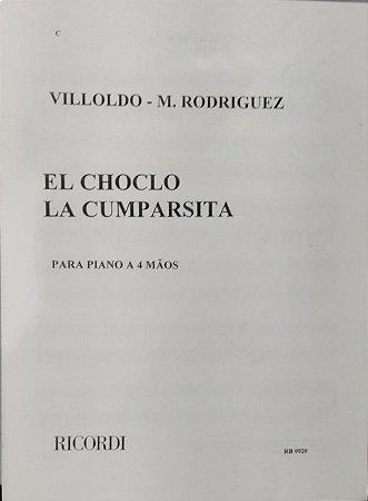 EL CHOCLO / LA CUMPARSITA - partitura para piano a 4 mãos - Villoldo e M. Rodriguez