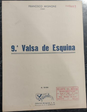VALSA DE ESQUINA N° 9 - partitura para piano – Francisco Mignone