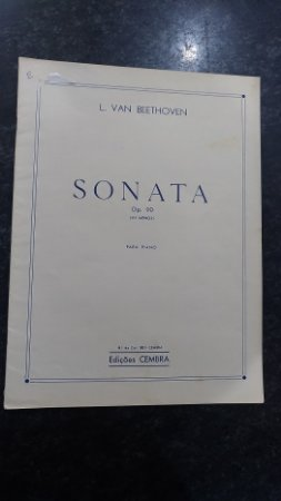 BEETHOVEN - SONATA OPUS 90 PARA PIANO EM MI MENOR