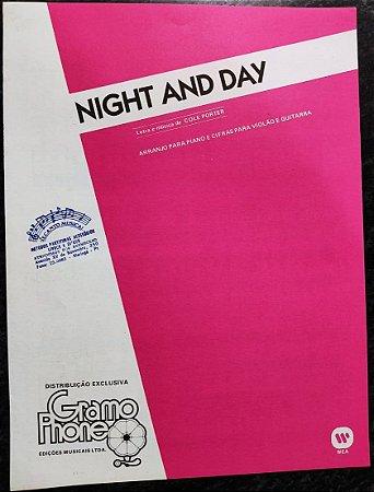 NIGHT AND DAY - Partitura para piano e acordes para violão - Cole Porter