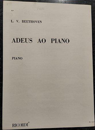 ADEUS AO PIANO (L´ADIEU AU PIANO) - partitura para piano - Beethoven - Ricordi